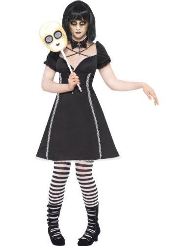 Smiffys Grausigkeit-Puppe - erwachsenes Abendkleid-Kostüm - S