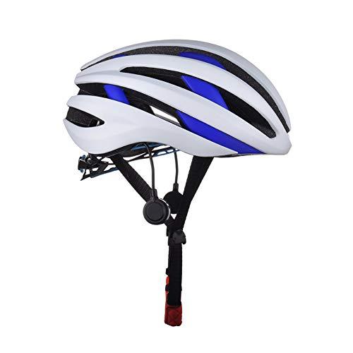 ZXDHELMET Rennrad Smart Schutzhelme Bluetooth Radfahren Eingebautes Mikrofon Reiten Für Straße Mountainbike Outdoor Männer Und Frauen Sicherheit Helm,B,54~62CM