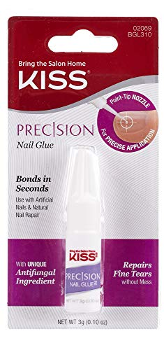 KISS Precision Nail Glue 0.10 oz - BGL310 (1 Pack) (Nail Glue)