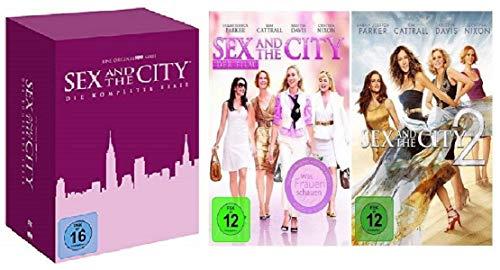 Sex and the City Box Die komplette Serie Staffel 1-6 + Kinofilm Teil 1+2 [DVD Set]