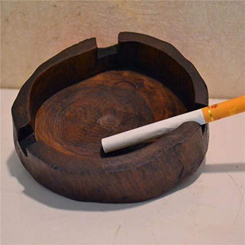 Suytan Soporte para Cigarrillos Cenicero Relieve Hecho a Mano Madera Iza Como Adorno Creativo Mesa de Té T Ware, 1,1