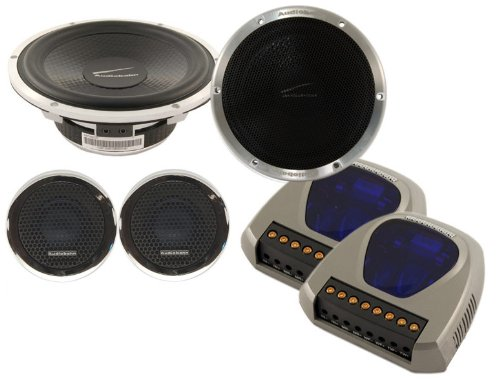 Audiobahn PARLEURS abc5002V Low Profile 2-Way Component System 5.25Car Speakers