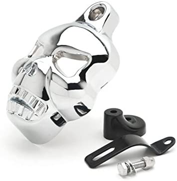 Krator Chrome Skull Head Horn SALENEW very popular! Compatib Stock Cover Max 81% OFF Cowbell Horns