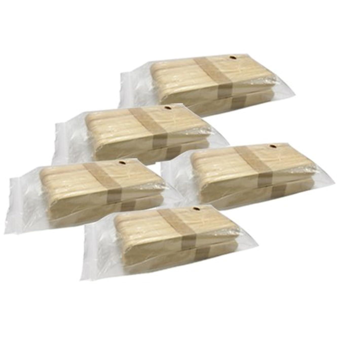 体メンタリティじゃない使い捨て【木ベラ/ウッドスパチュラ】(業務用100枚入り) × 5袋セット(計500枚)/WAX脱毛等や舌厚子にも …