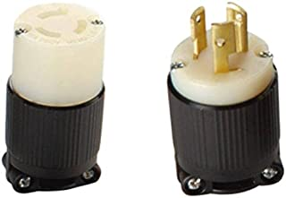 OCSParts L6-15 NEMA L6-15 Plug and Connector Set - Rated for 15A, 250V, 3-Wire, 2 Pole - cUL Listed (Pack of 2)