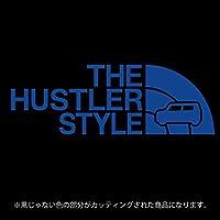 ハスラー ステッカー 31・41系 THE HUSTLER STYLE【カッティングシート】パロディ シール(12色から選べます) (ブルー)
