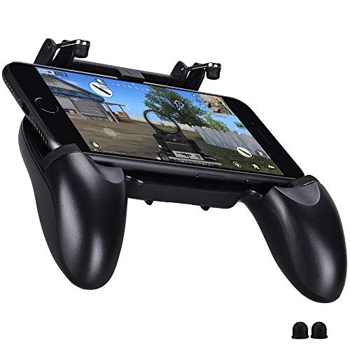 Qoosea Controladores de Juegos móviles Gamepad Sensitive Shoot Objetivo Joysticks Botones físicos L1R1 Diseño ergonómico Handgrip Game Disparadores para Knits out PUBG Rules of Survival