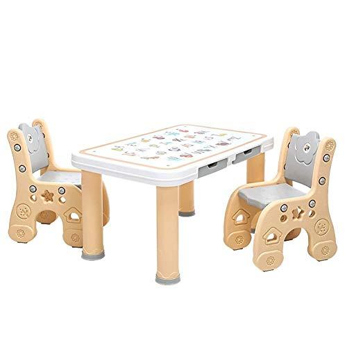 Étude pour enfants bureau enfants Table Table Tabouret Chaise Sets for les enfants de la maternelle de bébé Safety écrire Table de jeu en bois Apprendre en plastique stable Siège d'enfant ( Size : B )