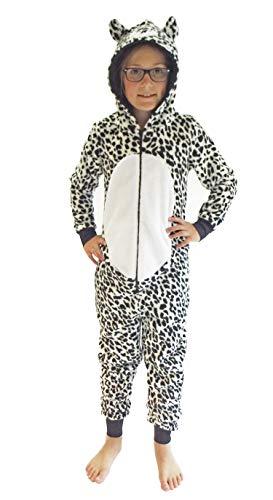 Mädchen Jumpsuit Overall Onesie Schlafanzug in niedlichen Tier Motiven - 291 467 97 606, Größe:152, Farbe:Leopard