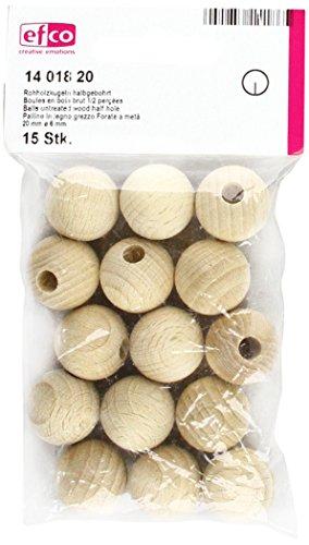 efco Träkulor, trä, brun, 10 x 10 x 6 cm