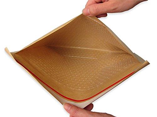 アリアケ梱包 薄い クッション封筒 クリックポスト ゆうパケット MAX クラフト茶色 (20枚セット)