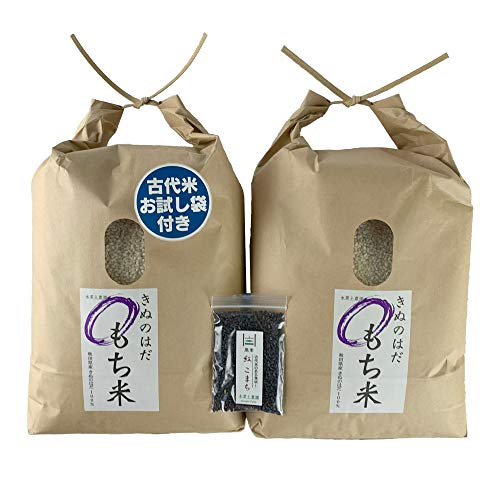 新米【おまけ付き】秋田県産 農家直送 きぬのはだ もち米10�s(5kg×2袋) 令和2年産 / 古代米お試し袋付き