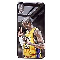 Iphoneのための神戸ブラックマンバケース、iPhoneの7/8、7 / 8plus、Xおよび11シリーズ、アンチスクラッチ強化ガラスバック、ソフトシリコンシェルのためのUSAバスケットボールスターケース K18- x/xs
