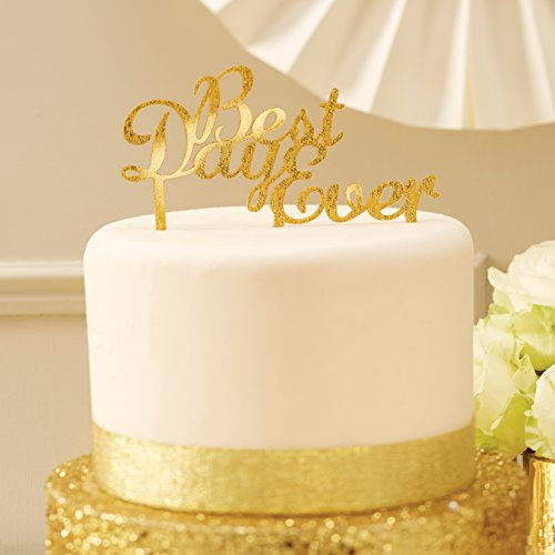 Ginger Ray MP-427 Metallic Perfectie Cake Topper-Beste Dag Ever-Goud
