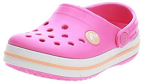 crocs Unisex-Kinder Crocband K Clogs, Rosa (Electric Pink/Cantaloupe), 30/31 EU