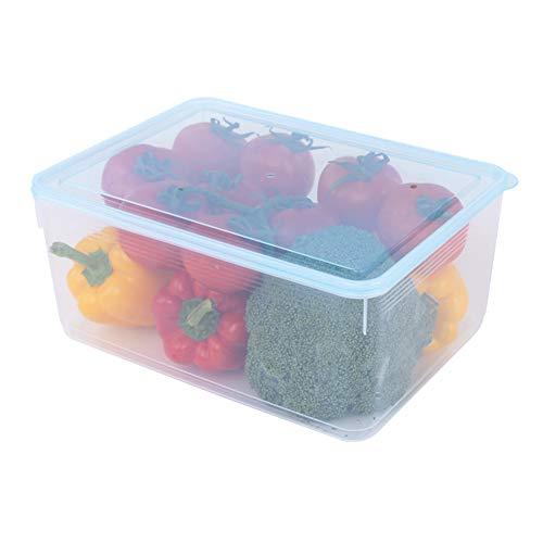 Watkings transparante opbergdoos grote capaciteit voedsel opbergdoos plastic voedsel ei fruit verzegelde doos stapelbare transparante container met vergrendeling deksel huisraad