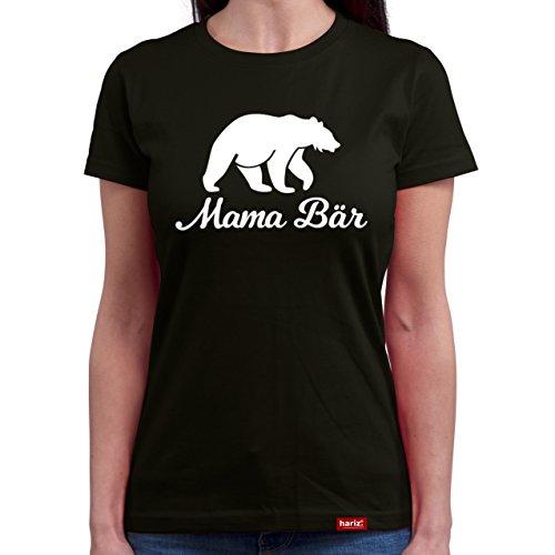 Hariz Mama Bär//Original Mujer Camiseta Cuello Redondo – 16 colores, S – XXL//Gratis tarjetas de regalo de Navidad Mama Collection negro XL