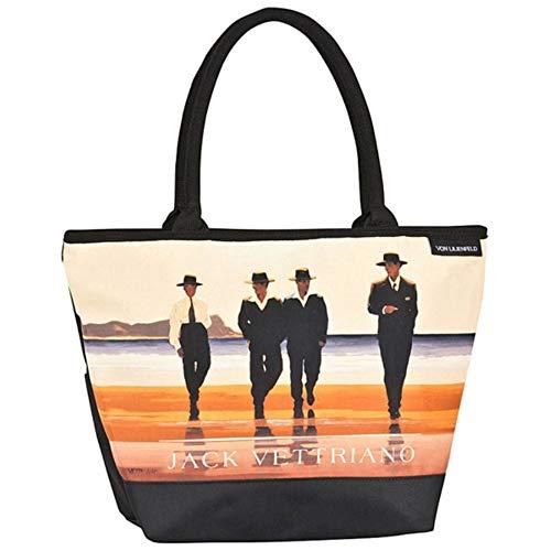 VON LILIENFELD Tasche Damen Einkaufstasche Shopper Bedruckt Motiv Kunst Jack Vettriano: Billy Boys