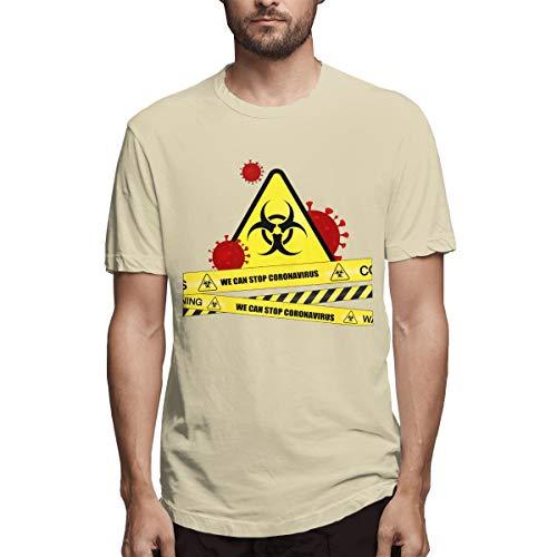 Stop Coronavirus - Camiseta de manga corta para hombre