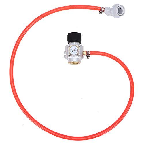 Cafopgrill Jauge de Pression Rapide de connecteur de Tuyau de gaz du régulateur 5/16in de régulateur de gaz de CO2