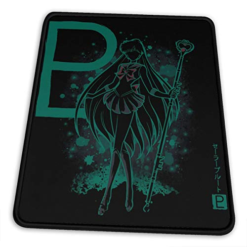 Sailor The Pluto Meiou Setsuna Mouse Pad Gaming Mouse Pad Anti Slip Neoprene Base with Stitched Edge Computer Pc Mousepad for Home Office