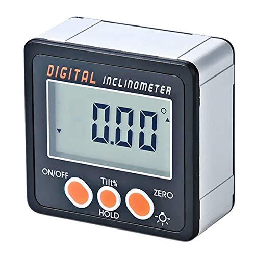 RUIZHI デジタル角度計4*90°電子分度器デジタル傾斜計デジタル水準器 アルミニウム合金ケースデジタル角度ボックス角度計マグネットベースングルゲージメーターマグネットベース
