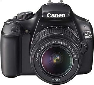 كاميرا عاكسة مفردة العدسة بدقة 12.2 ميجابكسل لون اسود من كانون اي او اس 1100دي