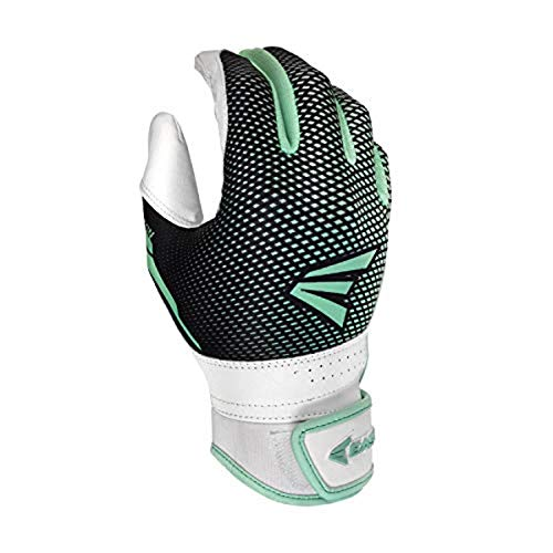 EASTON HYPERLITE Fastpitch Softball Batting Gloves | Pair | Womens | Medium | Mint | 2020 | Flexible & Lightweight Sublimated Design | Durable 2 Piece Palm | Comfort Neoprene Band Strap