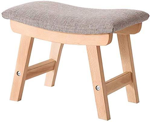YLCJ weefsel-emel, restaurant-hotel-kleine speels woonkamer-slaapkamer-emel-hout-rechthoekige kleine bank-hoogte 29 cm (kleur: kaki) kaki