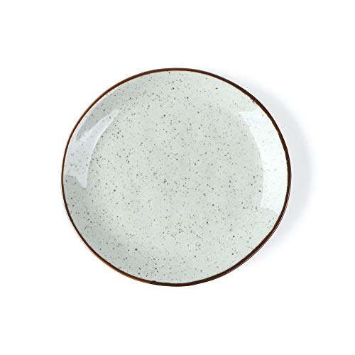 Holst Porzellan RT 121 Platos llanos de porcelana de 21 cm Re-Active Arena, beige, 20,5 x 20,5 x 2,5 cm, 6 unidades