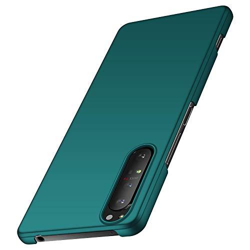 anccer Kompatibel mit Sony Xperia 1 II Hülle [Serie Matte] Elastische Schockabsorption & Ultra dünnes Handyhülle Design für Sony Xperia 1 II (Grün)