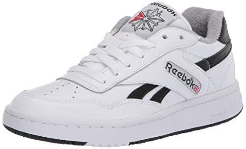 Reebok unisex-adult BB 4000 Sneaker ,White/black/tin Grey, 3.5 M US