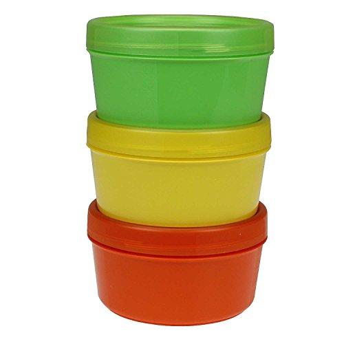 K&G TA1168504 3er Set Frischhaltedosen rund 0,2 L BPA frei | Schraubverschluss | ABSOLUT DICHT | Stapelbare Vorratsdose Mikrowelle-& Spülmaschinenfest