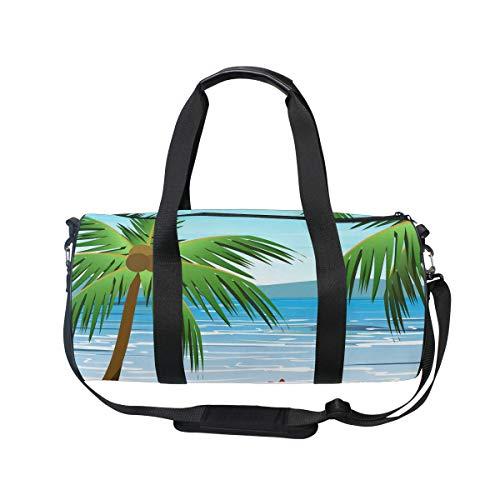Mnsruu Strandtasche mit Handflächen, groß, für Reisen, Unisex, hohe Kapazität, großes Gepäck, Sporttasche