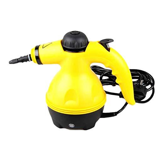 Xegood Multifunktionaler Dampfreiniger Tragbar Handdampfreiniger mit 450ml Tank,9 Zubehörteilen für Fleckenentfernung,Bedampfung,Teppiche,Vorhänge,Autositze,Küchenoberflächen & Vieles mehr Gelb