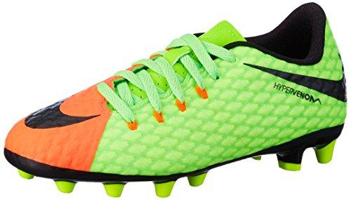 Nike Hypervenom Phinish II AG, Zapatillas de Fútbol Unisex Niños, Verde (Elctrc Green/Black-Hyper Orange-Volt), 32 EU
