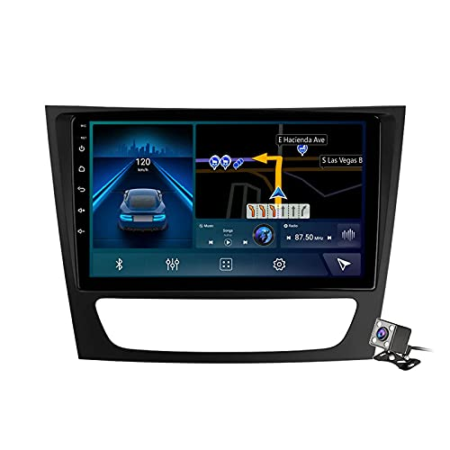 9 pulgadas pantalla Android 11 coche estéreo para Mercedes Benz Clase E CLS Clase C219 2002-2010 incorporado Carplay soporte control de voz/Bluetooth 5G WiFi FM Radio/espejo Link/navegación GPS SWC