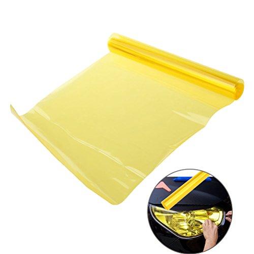 Vorcool Film autocollant jaune pour phares de voiture et moto Décoration et protection 30 x 60 cm