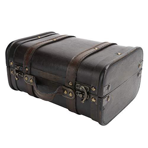 【Venta del día de la madre】Maleta retro, maleta de madera única, para la decoración del hogar.