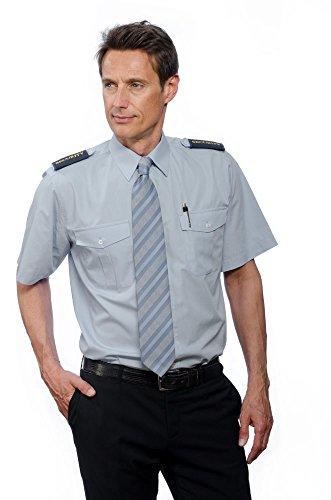 Nordhandel Hellblaue Pilotenhemden, Kurzarm, mit abnehmbaren Schulterklappen, Größe 39/40 (M)