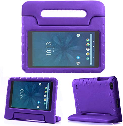 Golden Sheeps Kid Friendly Case Compatible for Walmart Onn 10.1 Inch Android Tablet 2019 Release (Model: ONA19TB003) Shockproof Ultra Light Weight Convertible Handle Stand Cover (Purple)