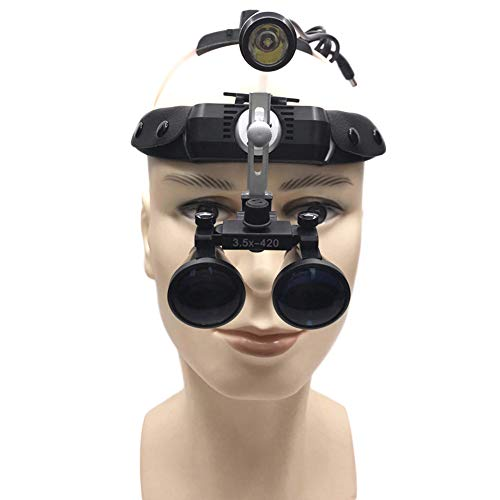 IJNUHB Surgical Medical 2.5X Hoofdband Vergrootglas Verrekijker Verrekijker Met Draagbare Led Hoofd Licht Lamp