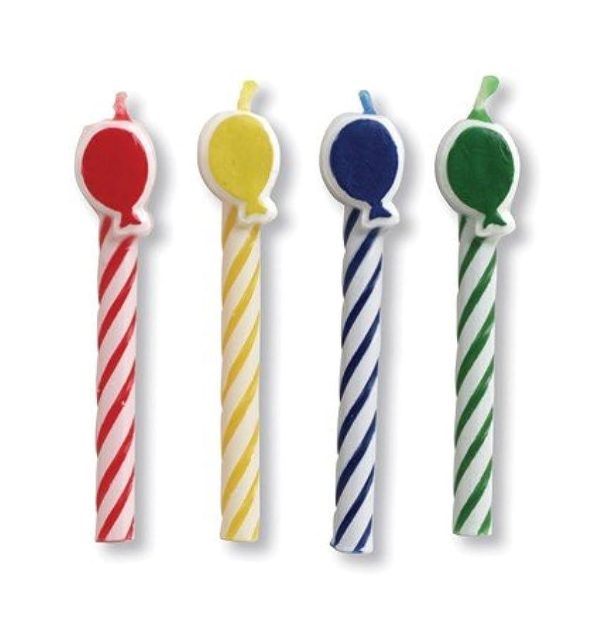 温室単にシーンクラブパックof 96?Multicoloredバルーン型スパイラル装飾誕生日パーティーキャンドル2?