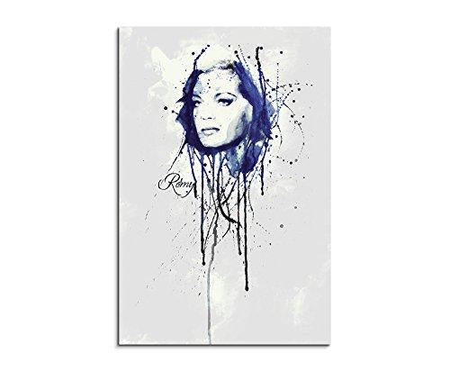 Romy Schneider 90x 60cm Keilrahmenbild Kunstbild Aquarell Art Wandbild auf Leinwand fertig gerahmt Original Paul Sinus Art Unikat