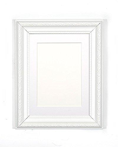 Frame Company Charleston lijst zwart met standaard verkrijgbaar in verschillende maten, White With White Mount, 20