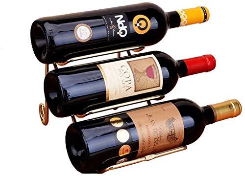 Estantería de Vino Estampilla de Vino Mostrar Vino Moderno Botella de Vino Botella de Vino Decoración del Estante del Vino (Color: Oro, Tamaño: 25.5x14x15cm) Almacenamiento