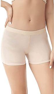 2 عبوة سراويل داخلية مبطنة للبعقب - ملابس داخلية مبطنة لرفع المؤخرة وهمية معزز ملابس داخلية للنساء (اللون: بيج، المقاس: M)