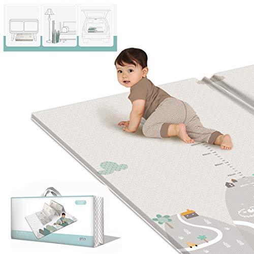 Yavso Alfombra Infantil, 200x180cm Plegable Alfombra de Juegos para Bebé XPE Impermeable...