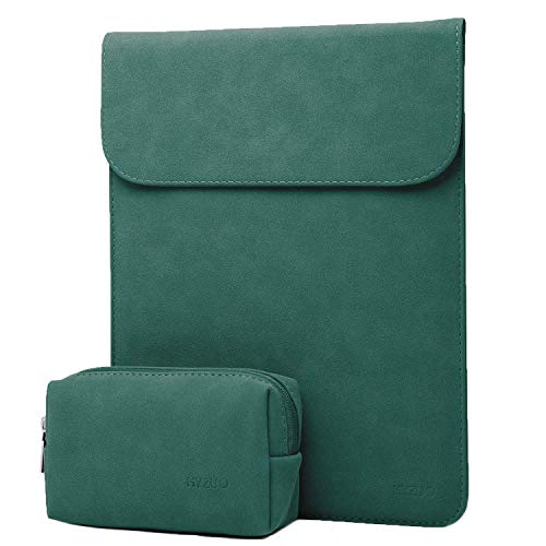 HYZUO 15-16 Inch Laptop Sleeve Case Compatible with 2019 New Macbook Pro 16 A2141/ Surface Laptop 3 15 Inch/Dell XPS 15/2012-2015 Old MacBook Pro 15 A1398 with Small Bag, Faux Suede Leather