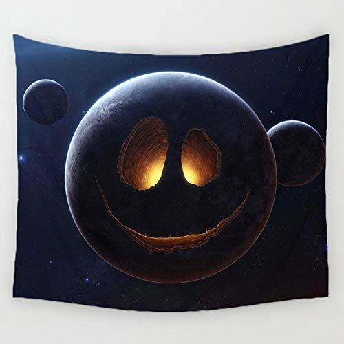 WERT Nightscape Tapiz Colgante de Pared decoración Estrella Planta decoración del hogar impresión tapices Tela de Fondo A5 150x200cm